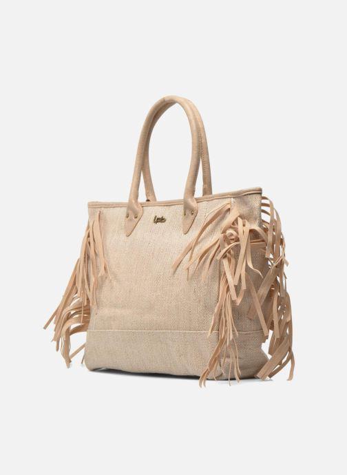 Handtaschen Les P'tites Bombes Sac à frange beige schuhe getragen