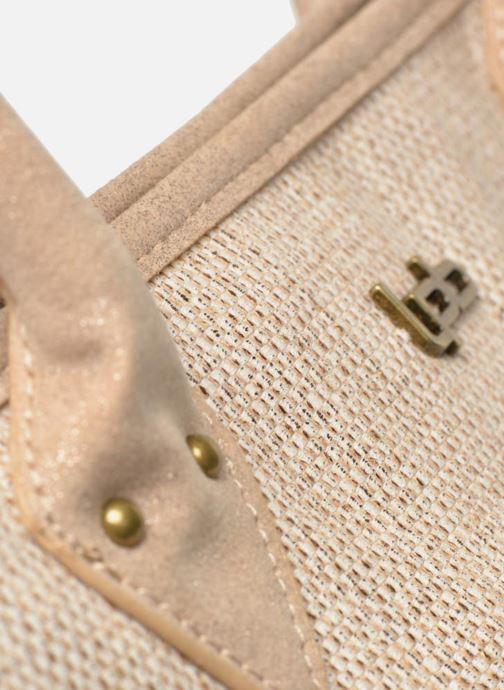 Handtaschen Les P'tites Bombes Sac à frange beige ansicht von links