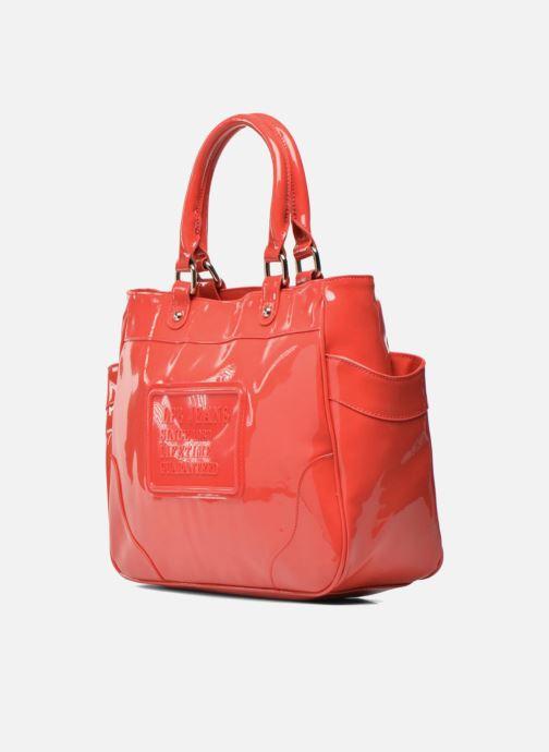 Handtaschen Les P'tites Bombes Sac Vernis rot schuhe getragen