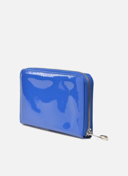 Marroquinería pequeña Les P'tites Bombes Compagnon Verni Azul vista lateral derecha