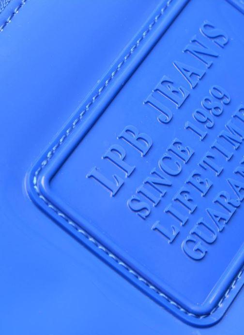 Marroquinería pequeña Les P'tites Bombes Compagnon Verni Azul vista lateral izquierda