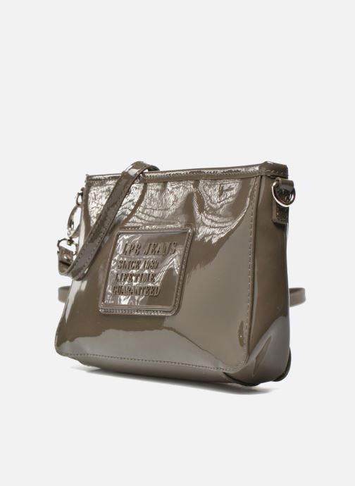 Clutch bags Les P'tites Bombes Pochette Verni Brown model view