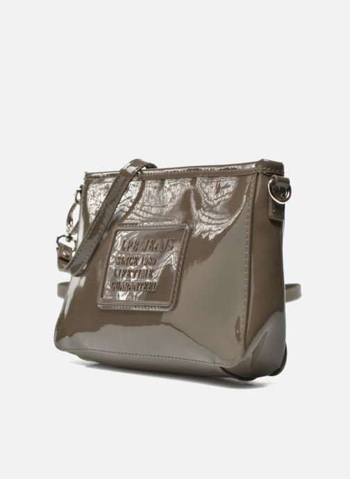 Clutch bags Les P'tites Bombes Pochette Verni Brown model view