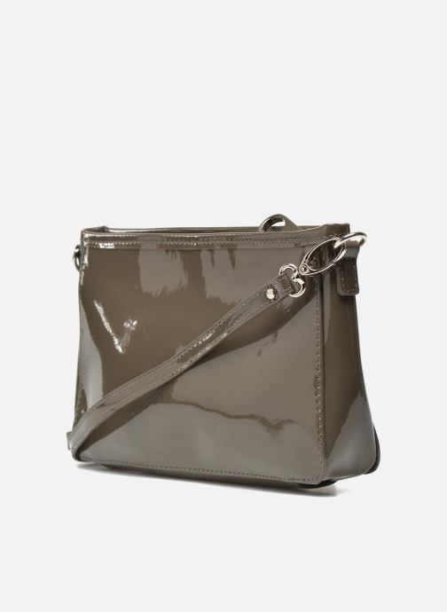 Clutch bags Les P'tites Bombes Pochette Verni Brown view from the right