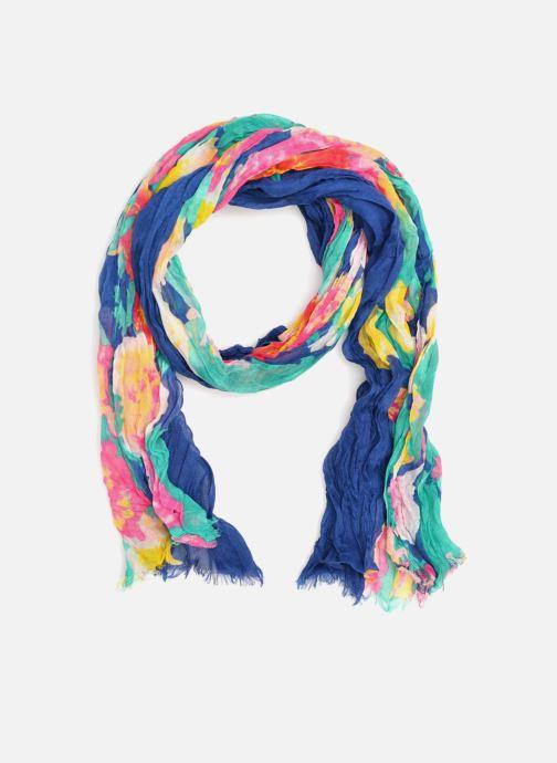 Halsduk och scarf Les P'tites Bombes Blommig sjal Blå detaljerad bild på paret