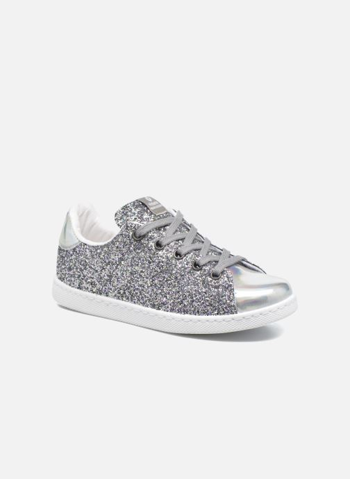 Trainers Victoria Deportivo Basket Glitter Silver detailed view  Pair view 91fc373585f