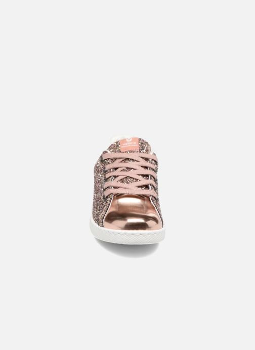 Sneakers Victoria Deportivo Basket Glitter Rosa modello indossato