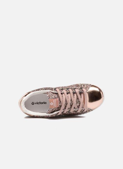 Sneakers Victoria Deportivo Basket Glitter Rosa immagine sinistra