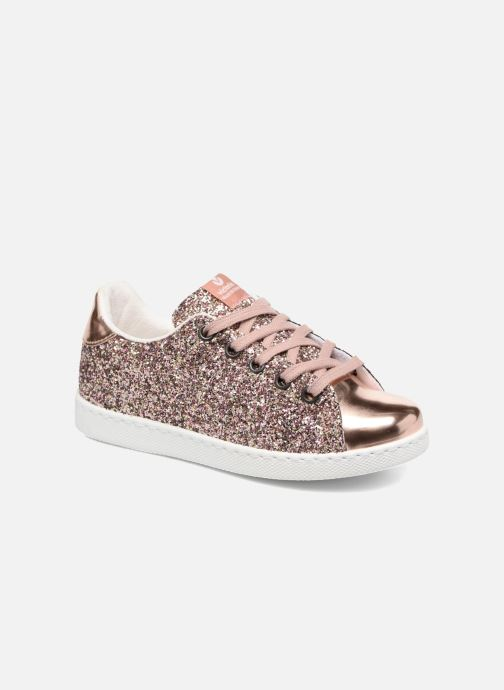 Trainers Victoria Deportivo Basket Glitter Pink detailed view  Pair view 185e7364703