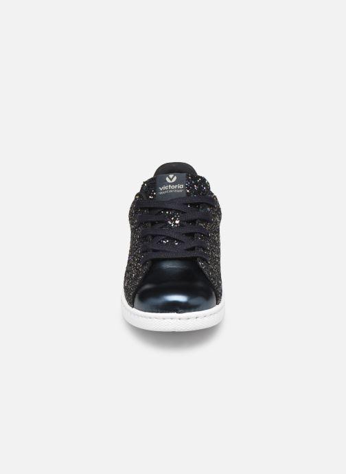 Sneakers Victoria Deportivo Basket Glitter Blauw model