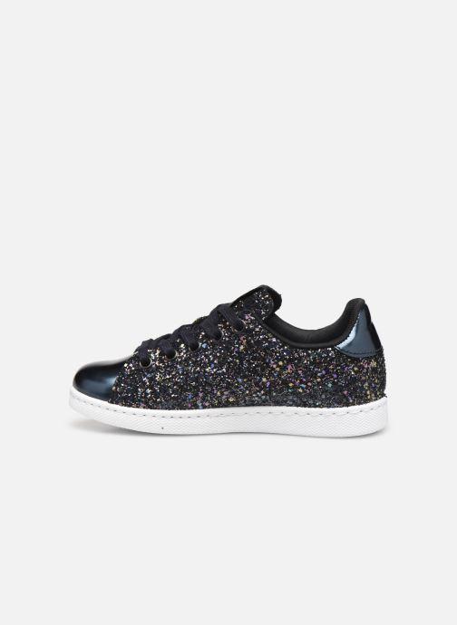 Sneakers Victoria Deportivo Basket Glitter Blauw voorkant
