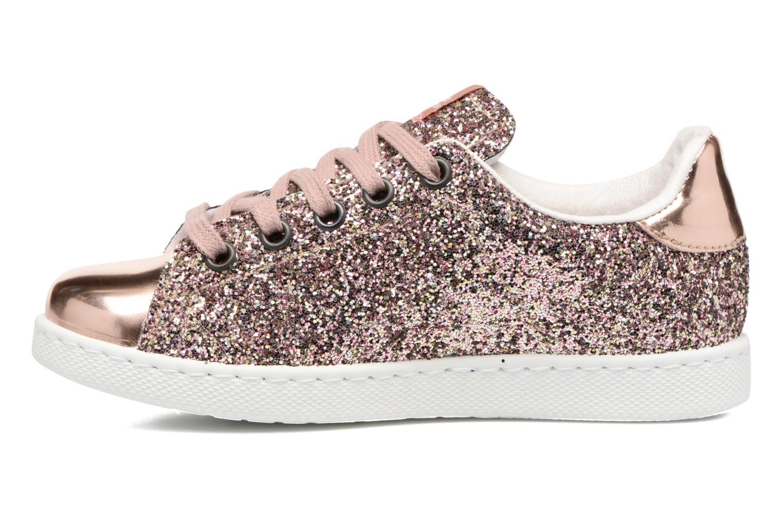 Sneaker Victoria Deportivo Basket Glitter rosa ansicht von vorne