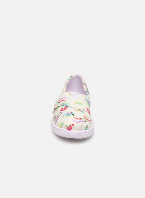 Baskets TOMS Seasonal Classics Kids Blanc vue portées chaussures
