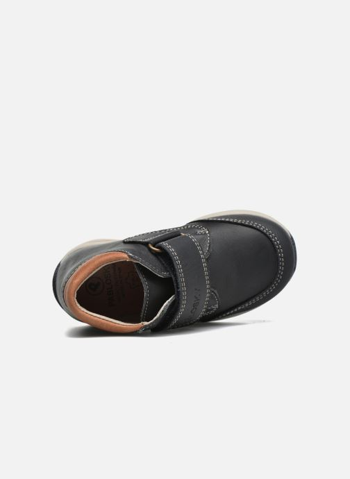 Zapatos con velcro Pablosky Antonio Azul vista lateral izquierda