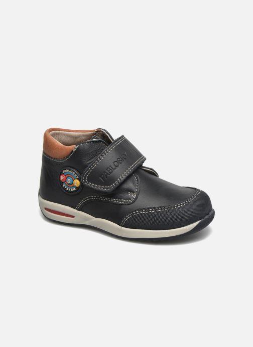 Chaussures à scratch Pablosky Antonio Bleu vue détail/paire