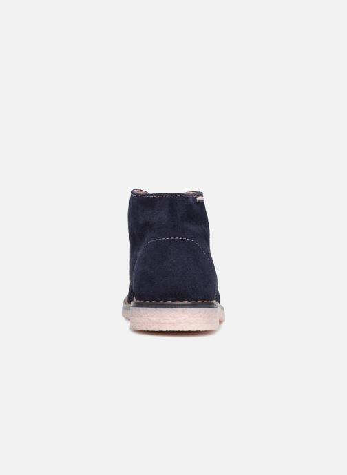 Zapatos con cordones Pablosky Camila Azul vista lateral derecha