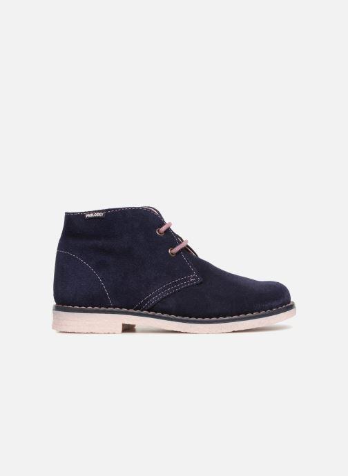 Zapatos con cordones Pablosky Camila Azul vistra trasera