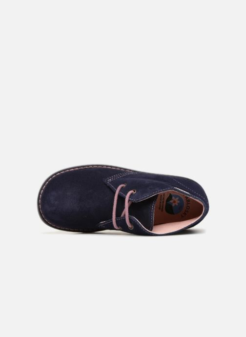 Zapatos con cordones Pablosky Camila Azul vista lateral izquierda