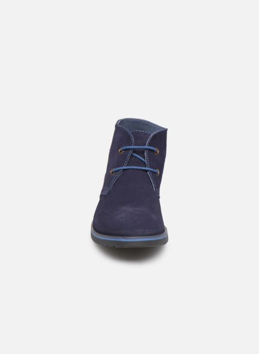 Schnürschuhe Pablosky Pablo blau schuhe getragen