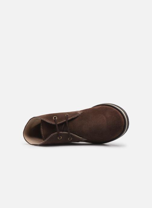 Zapatos con cordones Pablosky Pablo Marrón vista lateral izquierda