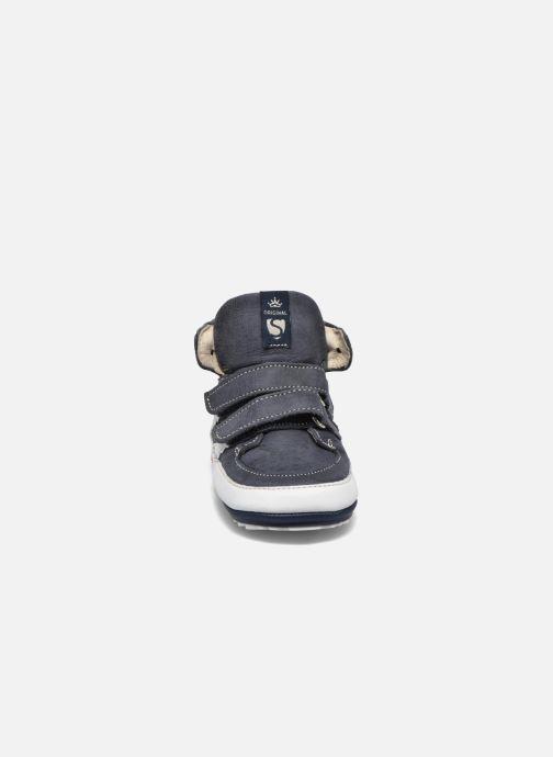 Chaussures à scratch Shoesme Simon Bleu vue portées chaussures
