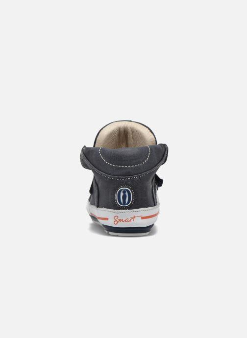 Zapatos con velcro Shoesme Simon Azul vista lateral derecha