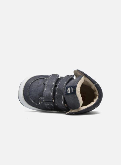 Chaussures à scratch Shoesme Simon Bleu vue gauche