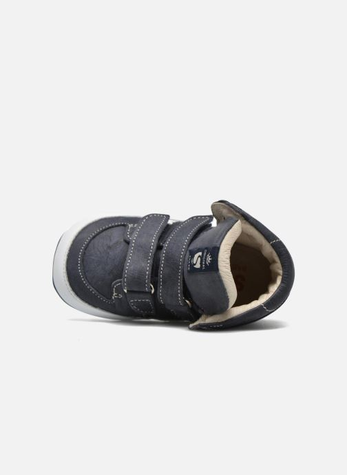 Zapatos con velcro Shoesme Simon Azul vista lateral izquierda