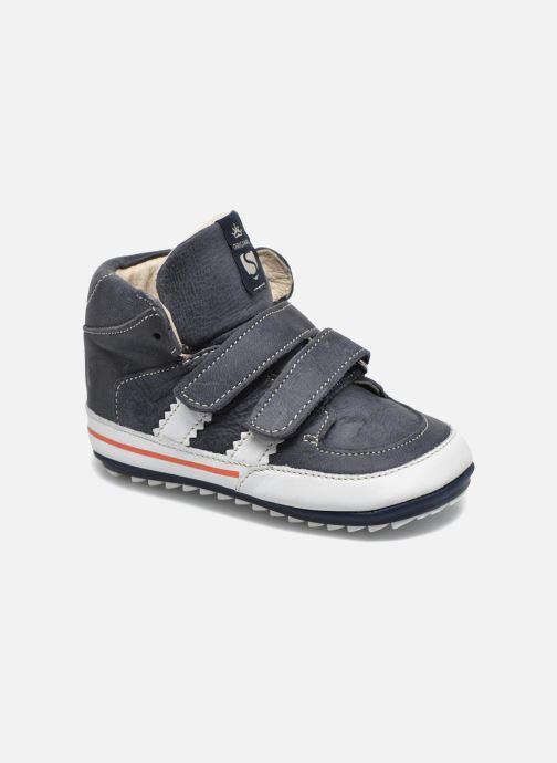 Schoenen met klitteband Shoesme Simon Blauw detail