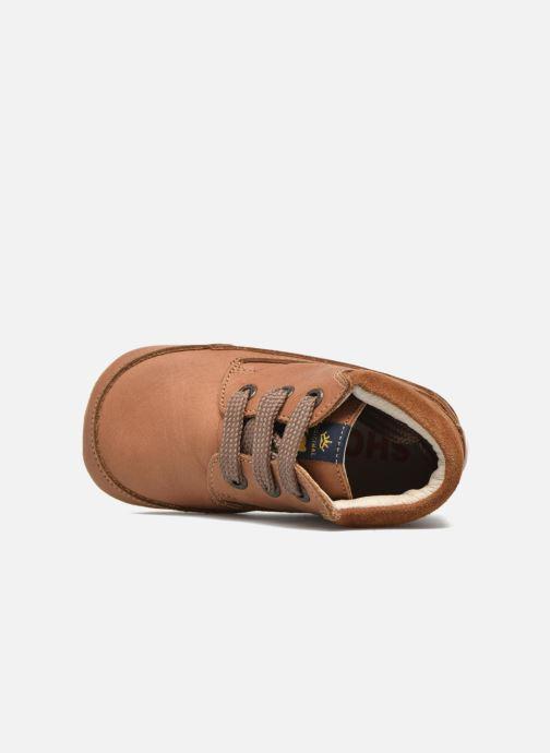 Veterschoenen Shoesme Stef Bruin links