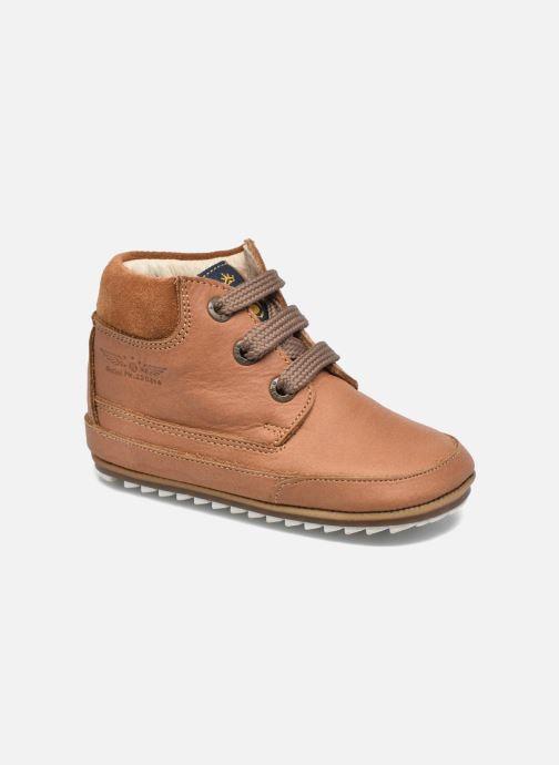 Zapatos con cordones Shoesme Stef Marrón vista de detalle / par