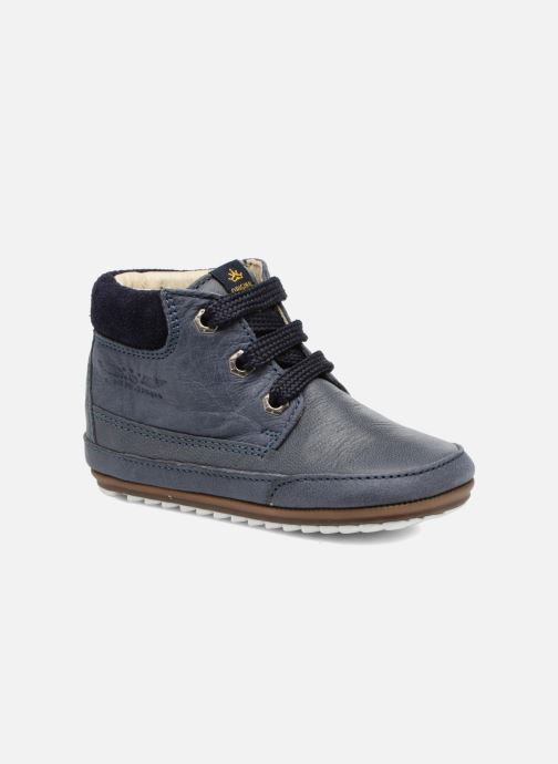 Lace-up shoes Shoesme Stef Blue detailed view/ Pair view