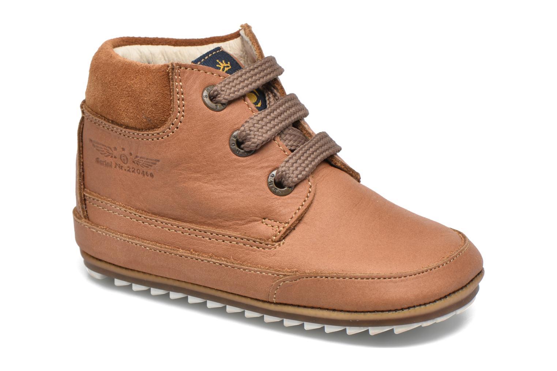 Chaussures à lacets Shoesme Stef Marron vue détail/paire