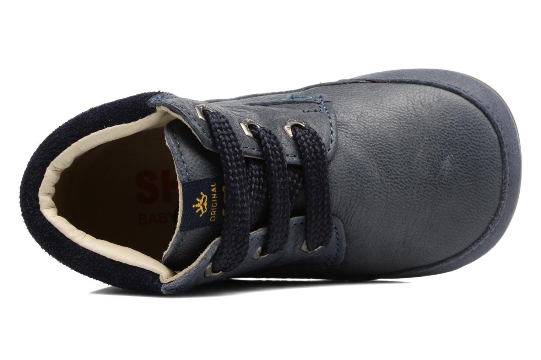 Veterschoenen Shoesme Stef Blauw links