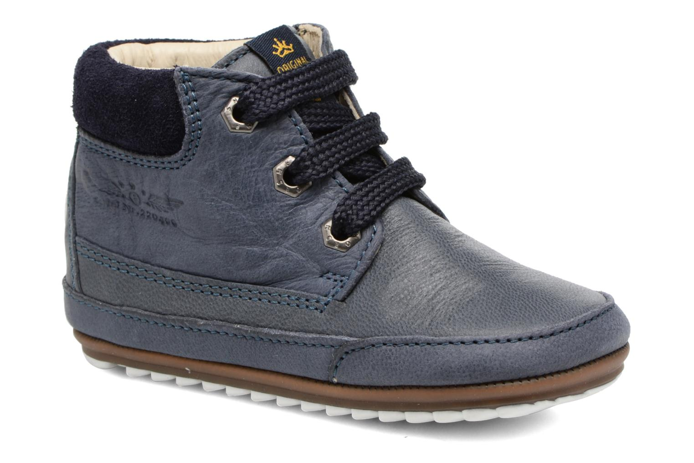 Veterschoenen Shoesme Stef Blauw detail