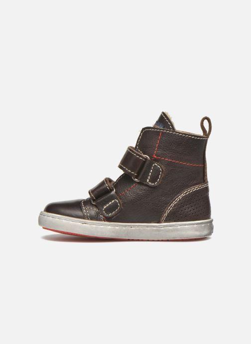Zapatos con velcro Shoesme Sofian Marrón vista de frente