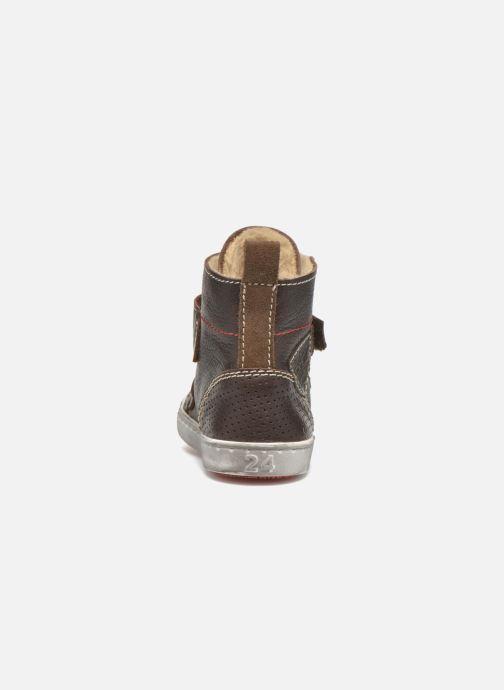 Zapatos con velcro Shoesme Sofian Marrón vista lateral derecha