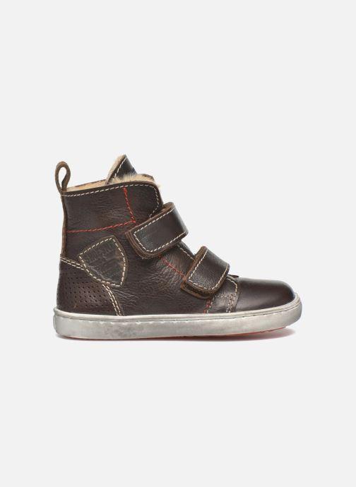 Zapatos con velcro Shoesme Sofian Marrón vistra trasera