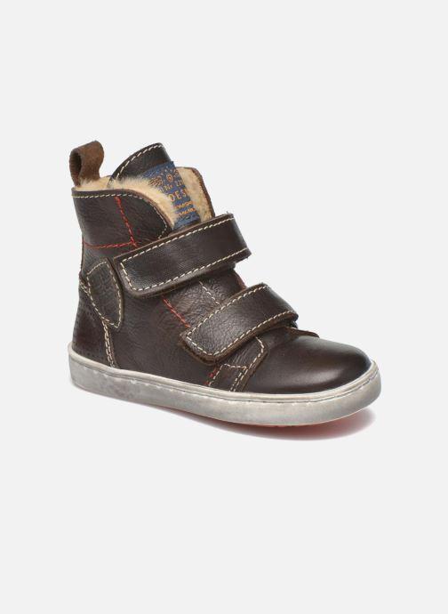 Zapatos con velcro Shoesme Sofian Marrón vista de detalle / par