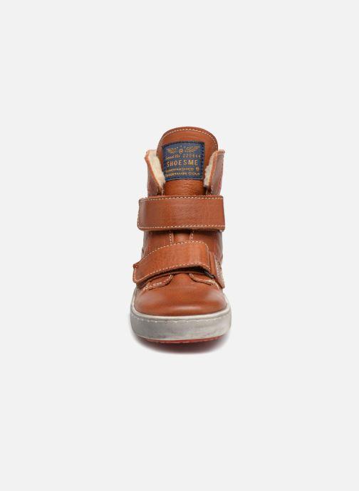 Chaussures à scratch Shoesme Sofian Marron vue portées chaussures