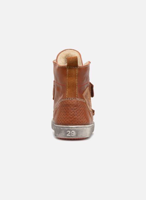 Chaussures à scratch Shoesme Sofian Marron vue droite
