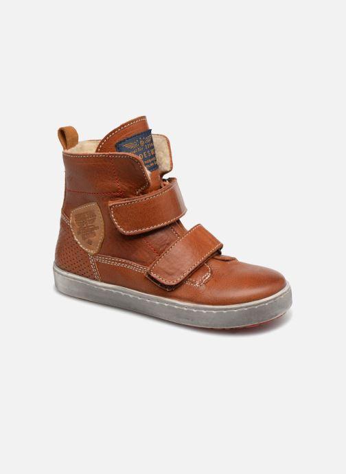 Schoenen met klitteband Shoesme Sofian Bruin detail