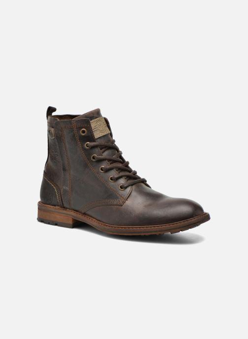 Ankelstøvler Bullboxer Don Brun detaljeret billede af skoene