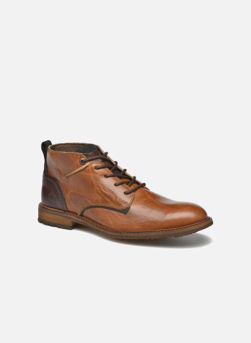 Snøresko Bullboxer Eddie Brun detaljeret billede af skoene