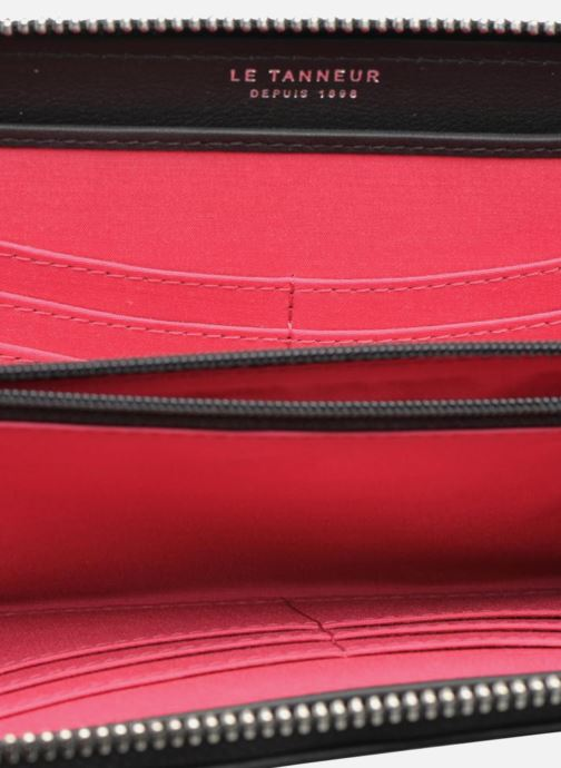 Pelletteria Le Tanneur VALENTINE Porte-monnaie long zippé Nero immagine posteriore