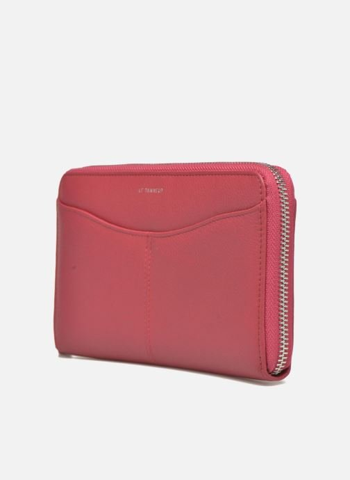 Pelletteria Le Tanneur VALENTINE Porte-monnaie long zippé Rosa modello indossato