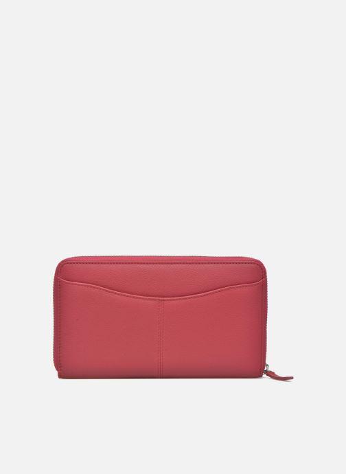 Kleine lederwaren Le Tanneur VALENTINE Porte-monnaie long zippé Roze voorkant