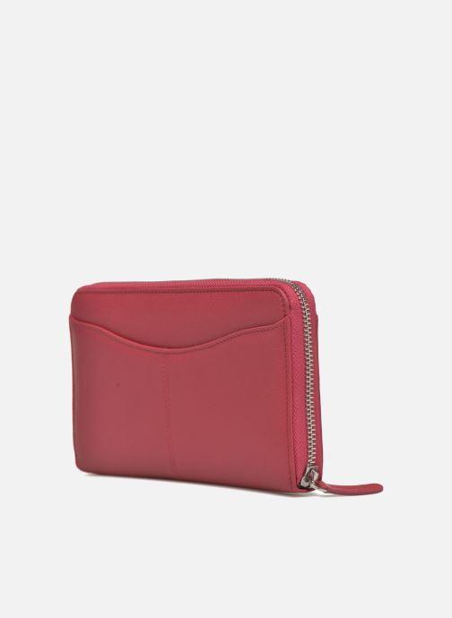 Punge og etuier Le Tanneur VALENTINE Porte-monnaie long zippé Pink Se fra højre