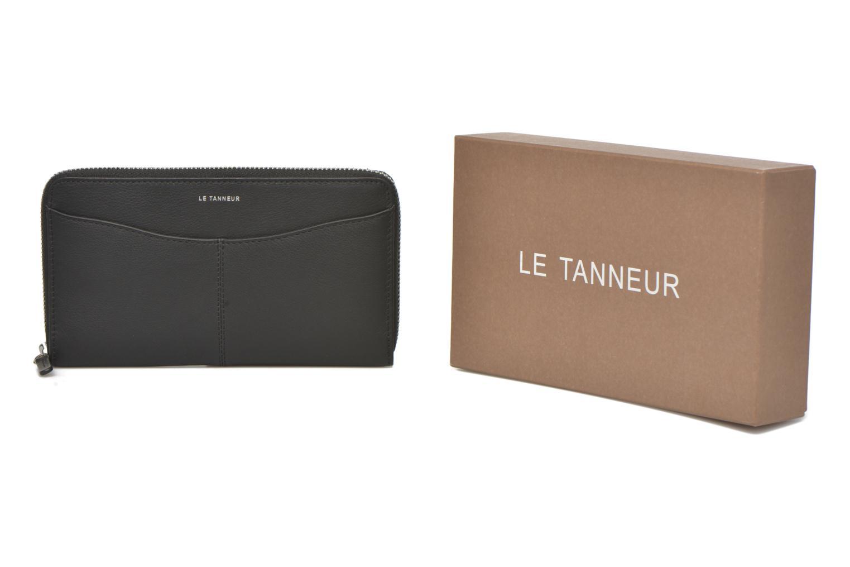 Petite Maroquinerie Le Tanneur VALENTINE Porte-monnaie long zippé Noir vue détail/paire