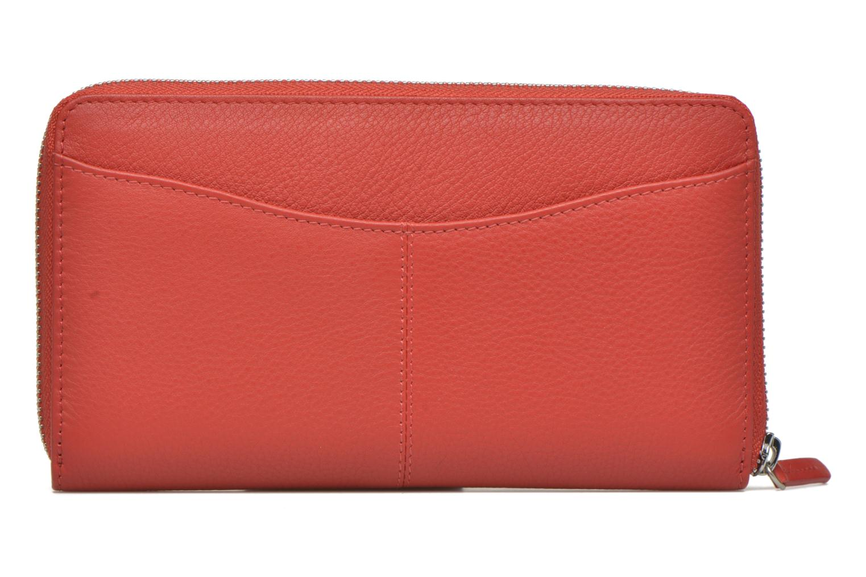 Petite Maroquinerie Le Tanneur VALENTINE Porte-monnaie long zippé Rouge vue portées chaussures